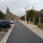 Dévoiement de chaussée - Exemple de système de passage en écluse